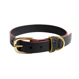 Mowgli luxury leather black dog collar - Meryn