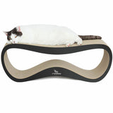 [product _vendor] LUI Cardboard Cat Scratcher Lounge - Black - STYLETAILS