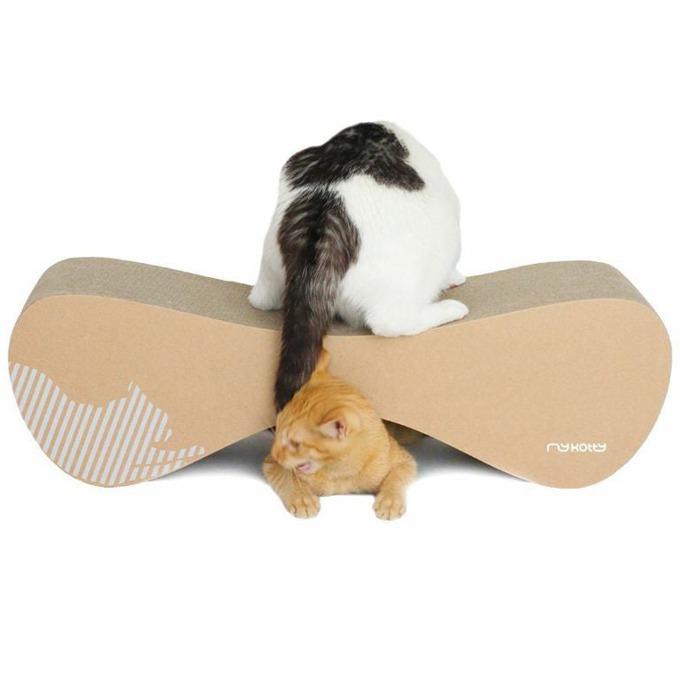 Vigo corrugated cardboard cat scratcher - mykotty