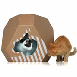 MIA cardboard cat house and cat scratching pad my kotty