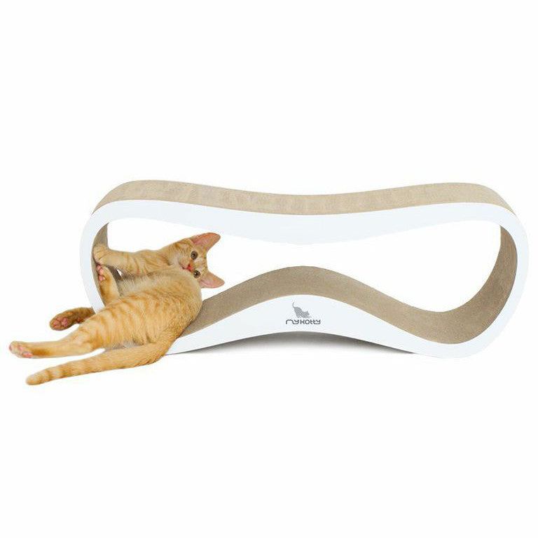 LUI cardboard cat scratcher and lounger - white - my kotty