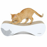 White Vigo Cardboard Cat Scratcher my kotty