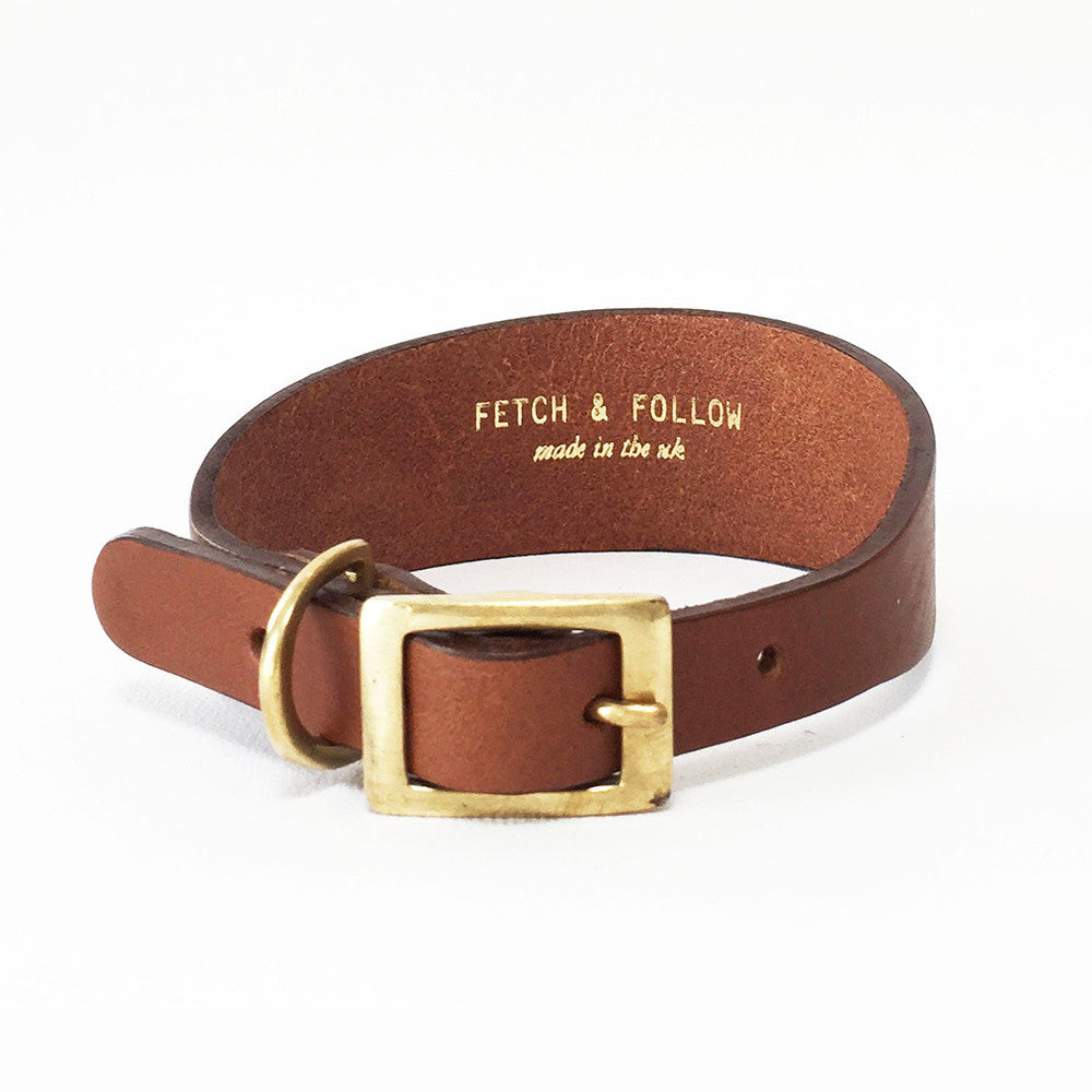 Leather Hound Collar Fetch Follow