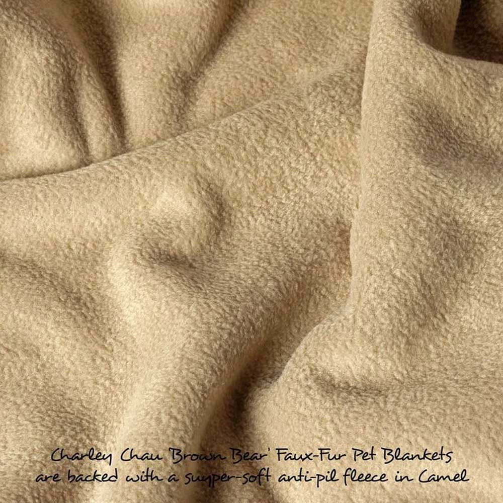 [product _vendor] Brown Bear Faux Fur Dog Blanket - STYLETAILS