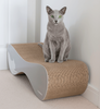 VIGO Grey Cardboard Cat Scratcher myKotty