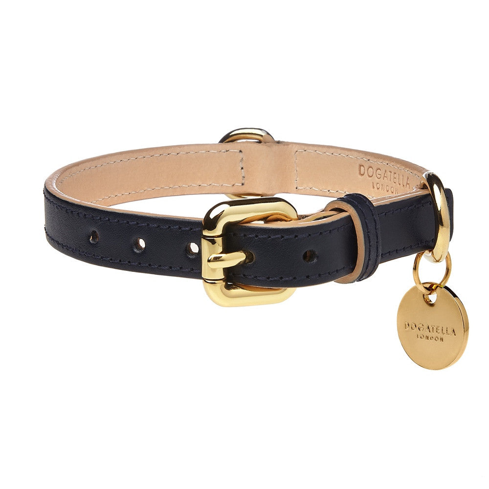 [product _vendor] Classic Leather Dog Collar - STYLETAILS