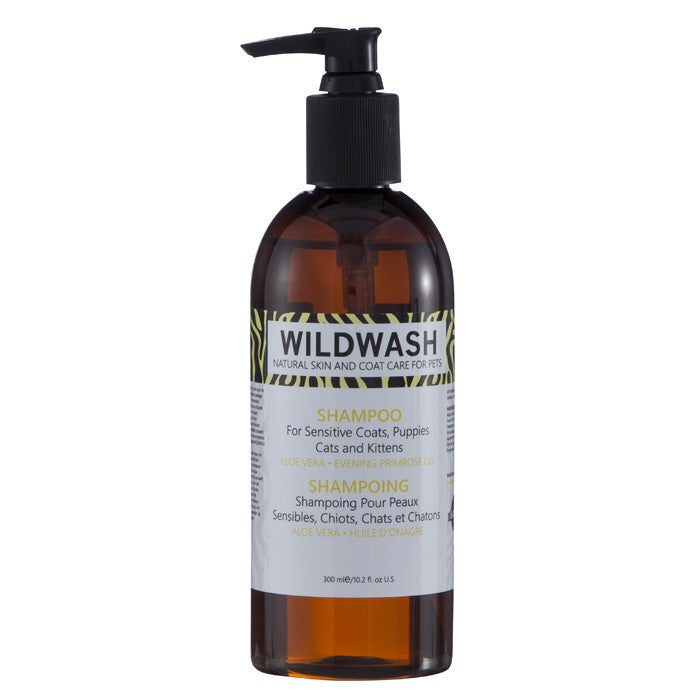 WildWash Natural Sensitive shampoo for dogs cats and kittens