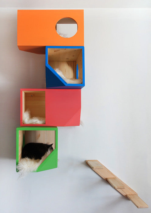 catissa multi colour cat house cat tree