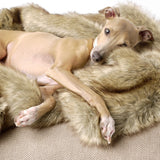Faux Fur Dog Blanket - Foxy