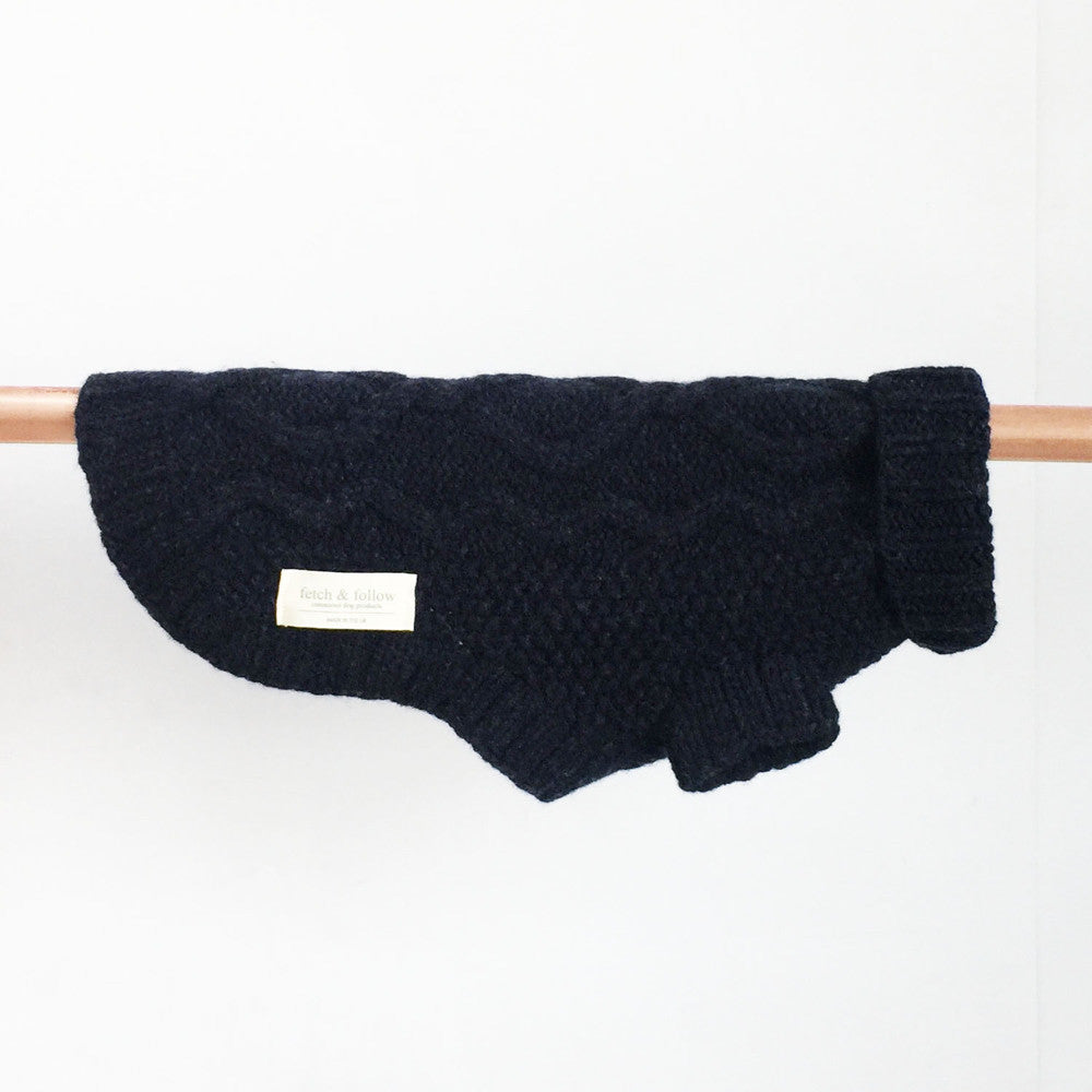 Cable Knit Merino Wool Dog Jumper