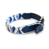 Geo Blue Dog Collar