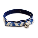 Geo Blue Cat Collar
