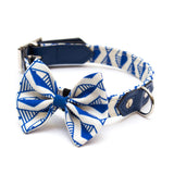[product _vendor] Geo Blue Dog Bow Tie - STYLETAILS