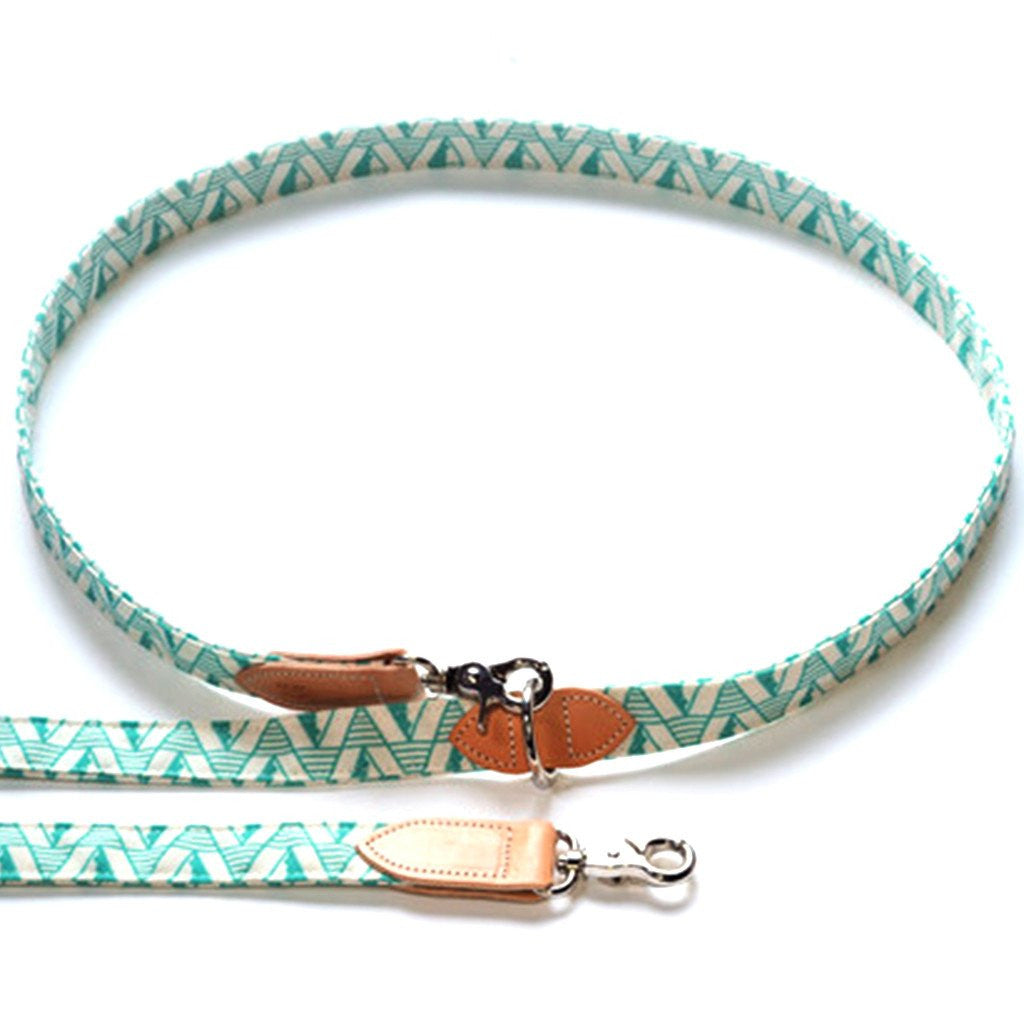 Geo Green Hands Free Dog Lead hiro wolf