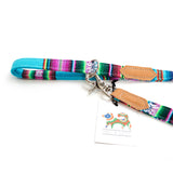 [product _vendor] Blue Inca Cafe Dog Lead - STYLETAILS