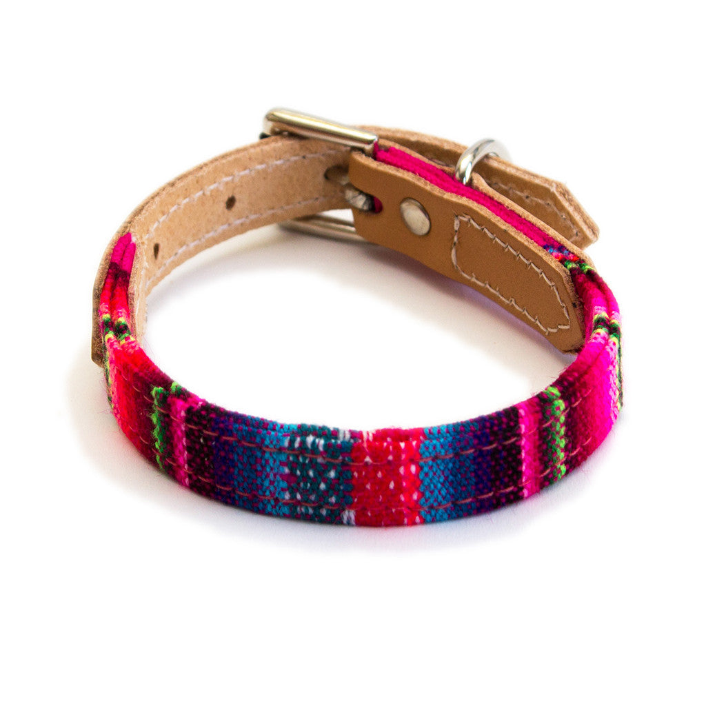 [product _vendor] Pink Inca Dog Collar - STYLETAILS