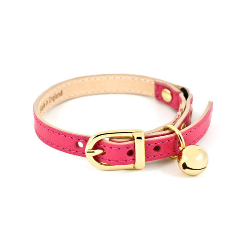 Leather Studded Cat Collar - Chocolate