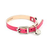 [product _vendor] Fuchsia Leather Cat Collar - STYLETAILS