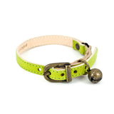 [product _vendor] Lime Green Leather Cat Collar - STYLETAILS