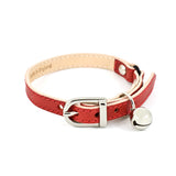 [product _vendor] Red Leather Cat Collar - STYLETAILS