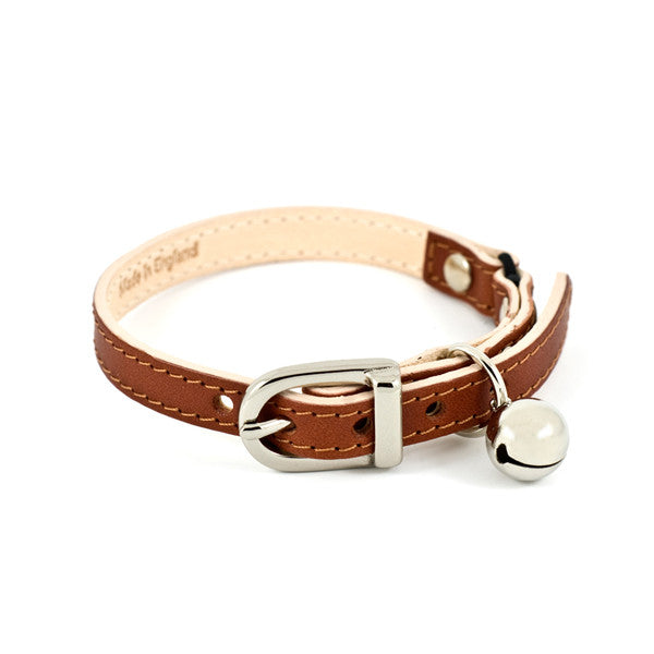 [product _vendor] Tan Leather Cat Collar - STYLETAILS