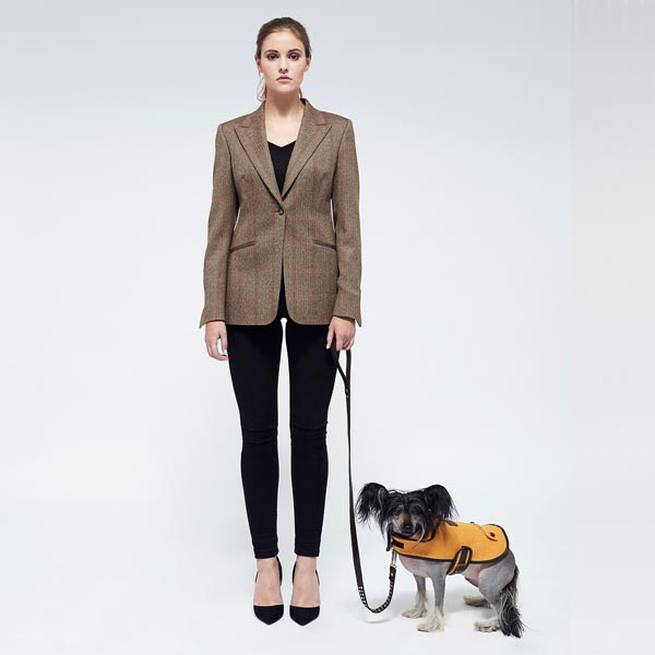 [product _vendor] Sunflower Yellow Wool Dog Coat - STYLETAILS