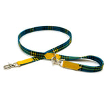 [product _vendor] Shuka Blue Check Cafe Dog Lead - STYLETAILS