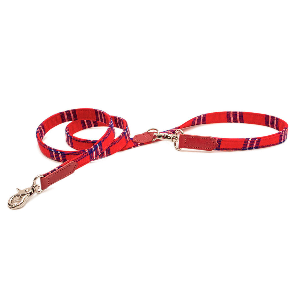 Shuka Red Check Cafe Dog Lead