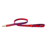 Shuka Red Check Classic Dog Lead