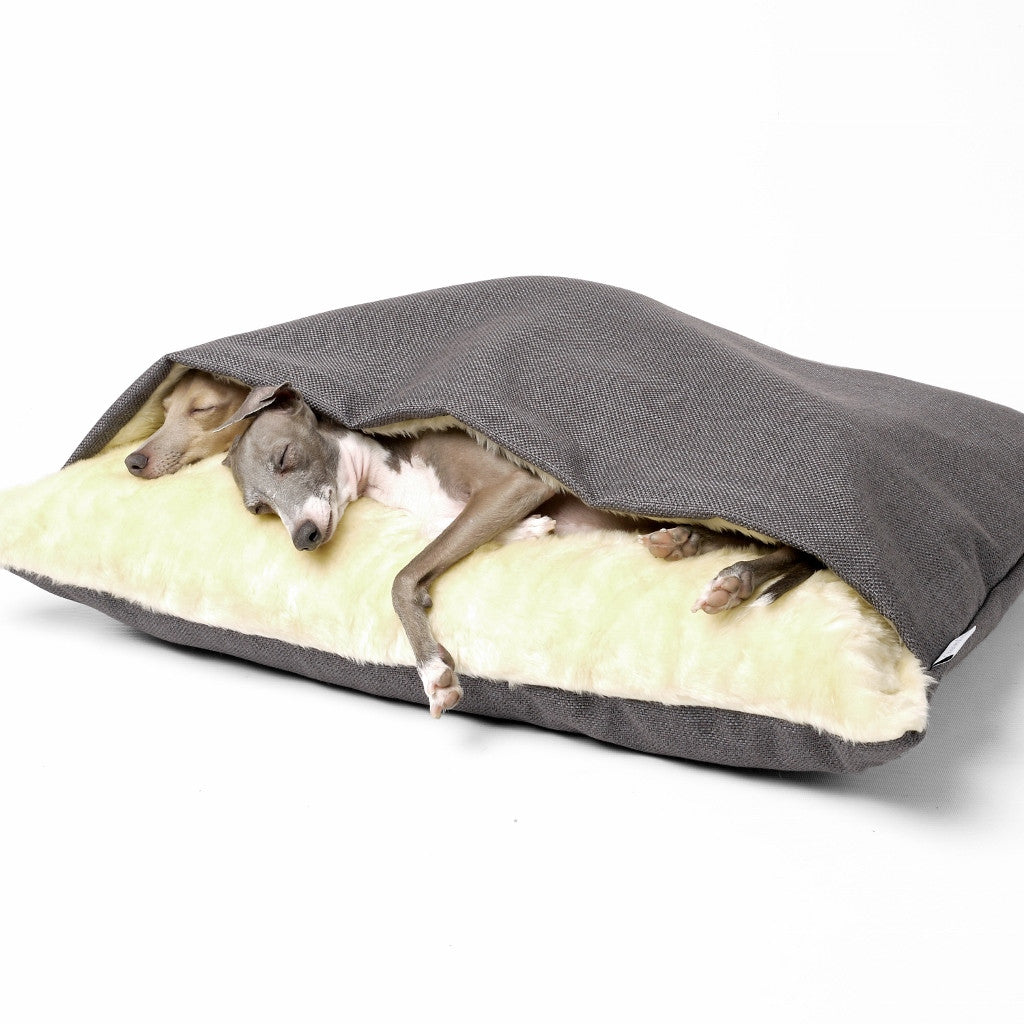 [product _vendor] Luxury Dog Snuggle Bed - Weave - STYLETAILS