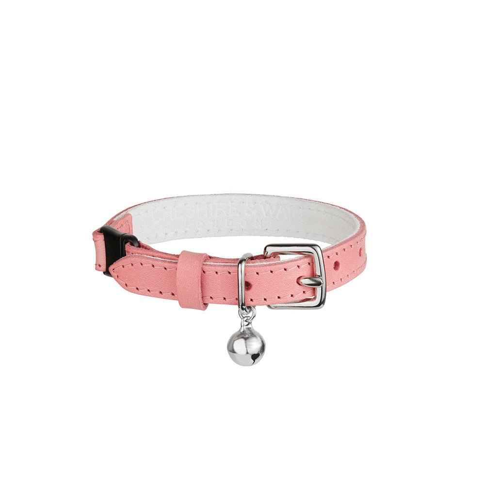 [product _vendor] Strawberries & Cream Leather Cat Collar - STYLETAILS