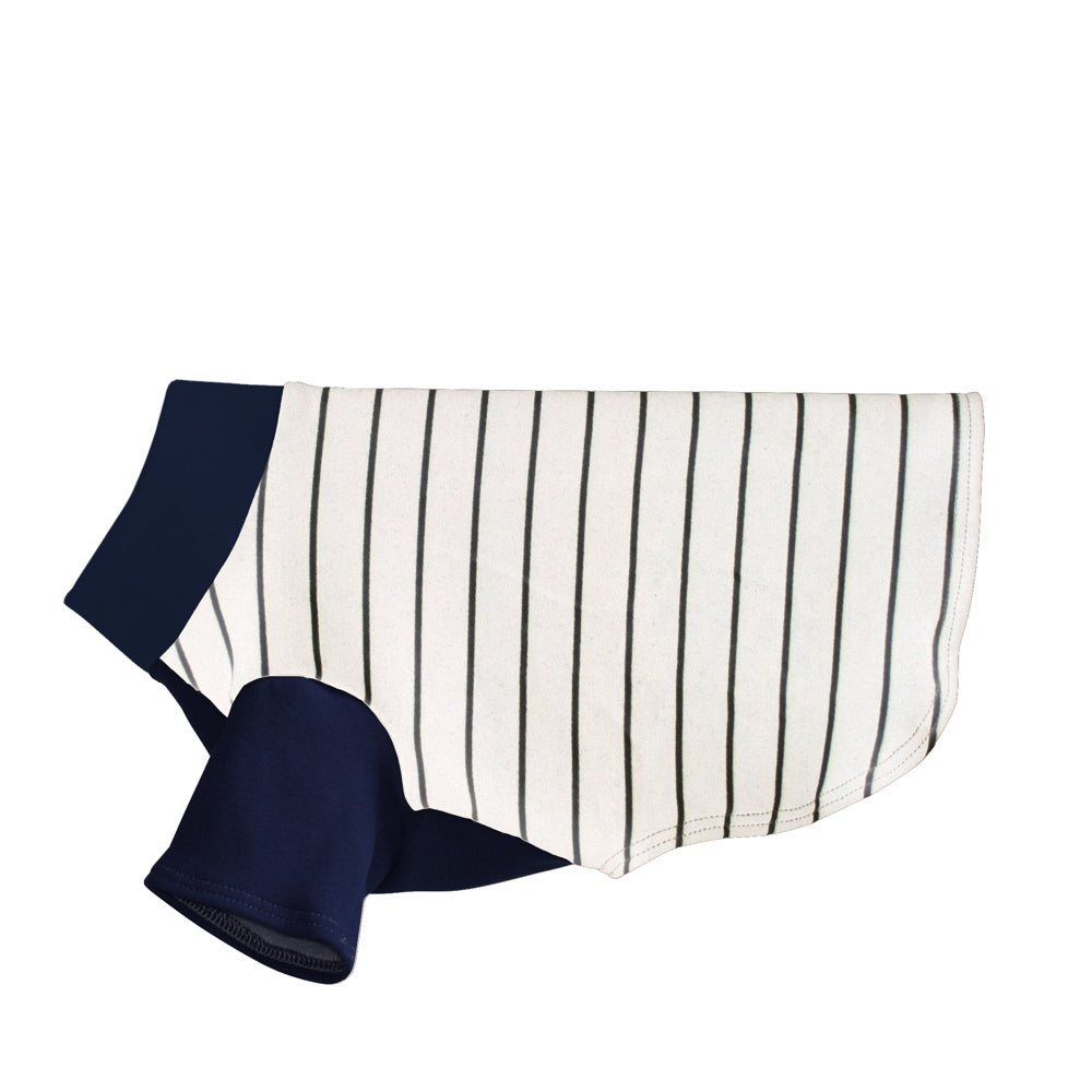 Striped Dog Sweater - Cream/Navy