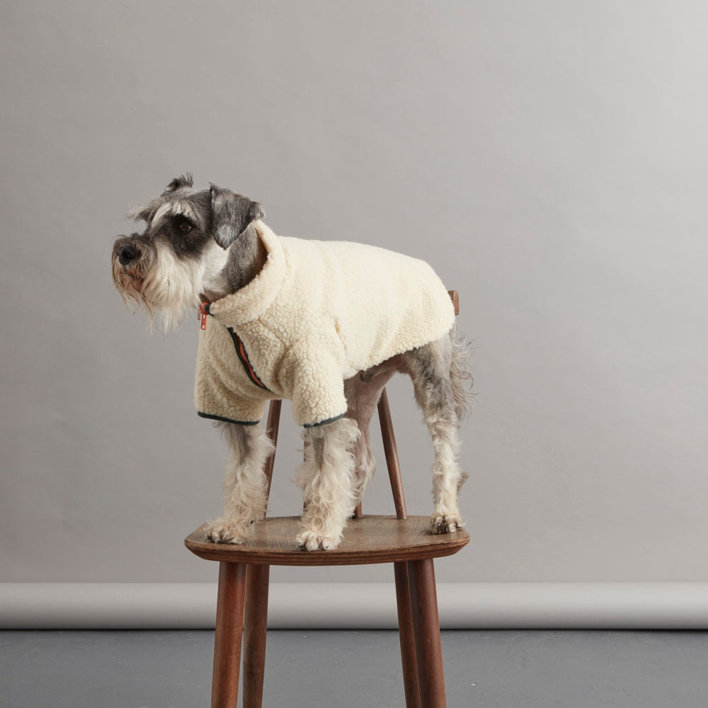 [product _vendor] Sherpa Fleece Dog Jacket - Green/Orange - STYLETAILS