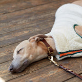 [product _vendor] Sleeveless Sherpa Fleece Dog Jacket - Green/Orange - STYLETAILS