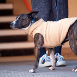 [product _vendor] Sleeveless Sherpa Fleece Dog Jacket - Maroon/Navy - STYLETAILS