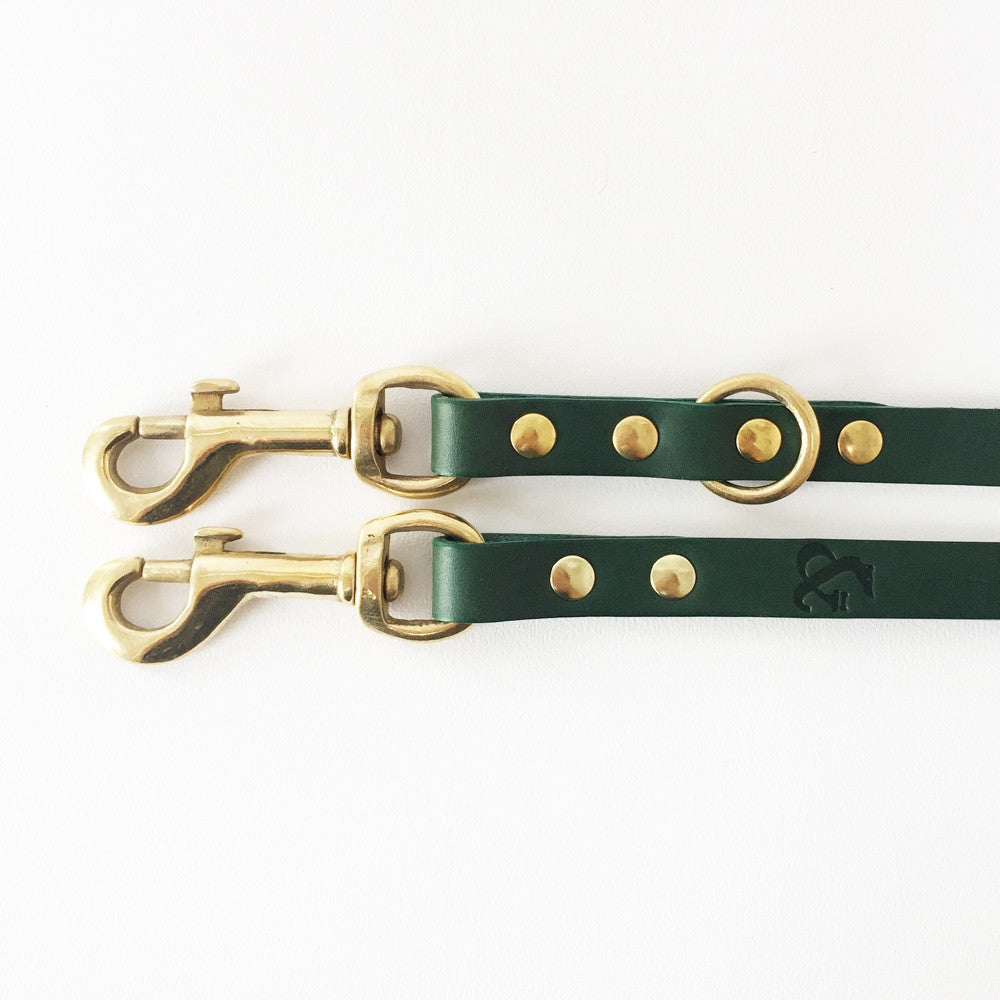 [product _vendor] Long Leather Dog Lead - STYLETAILS