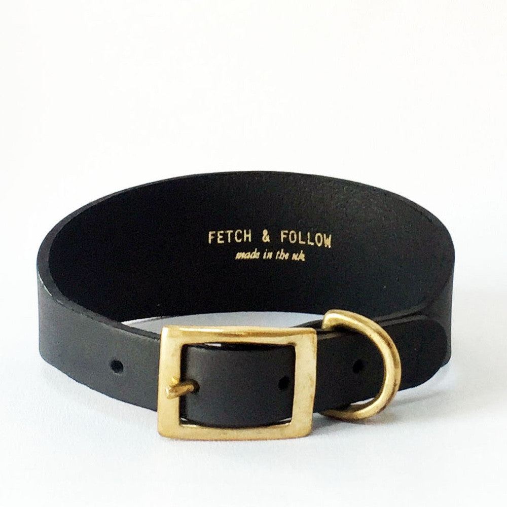 [product _vendor] Leather Hound Collar - STYLETAILS