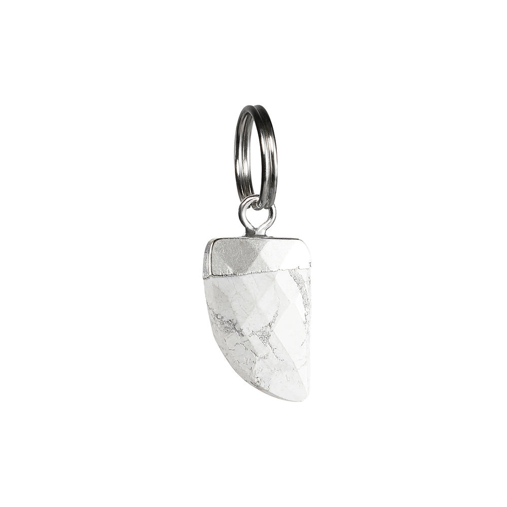 [product _vendor] Howlite Shark's Tooth Cat Collar Charm - STYLETAILS