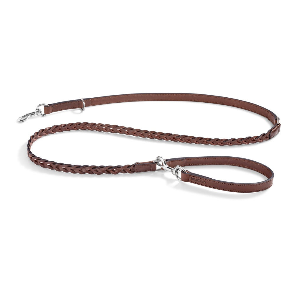 [product _vendor] Bergamo Braided Leather Dog Lead - STYLETAILS