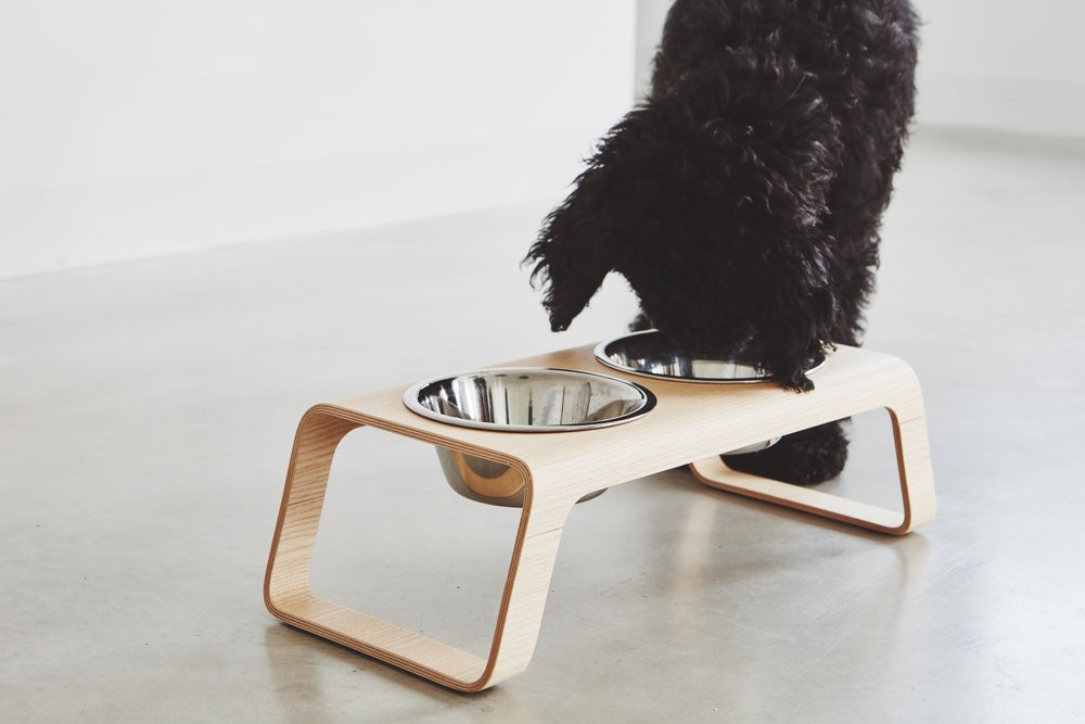 [product _vendor] Desco Wood Dog Feeder - STYLETAILS