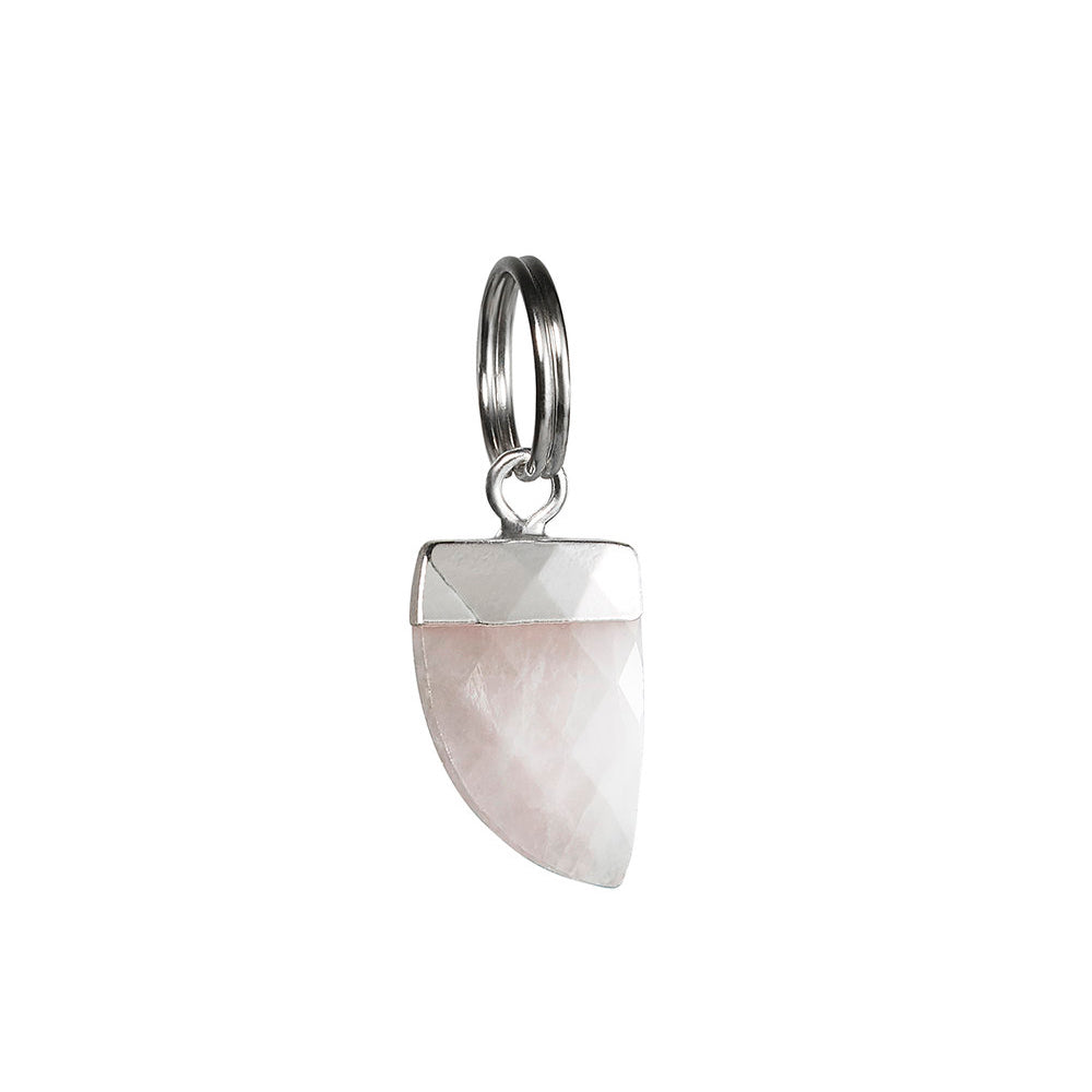 [product _vendor] Rose Quartz Shark's Cat Collar Tooth Charm - STYLETAILS