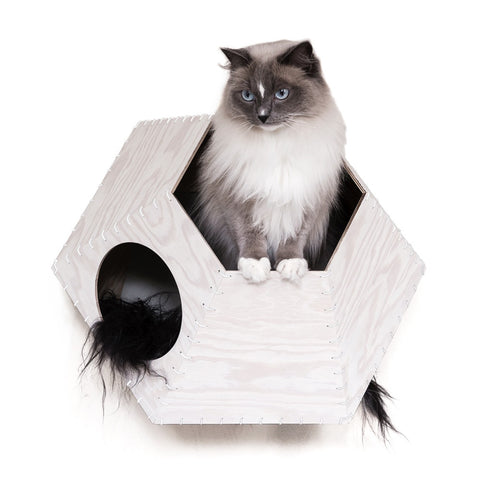 Lana Faux Fur Cat Bed