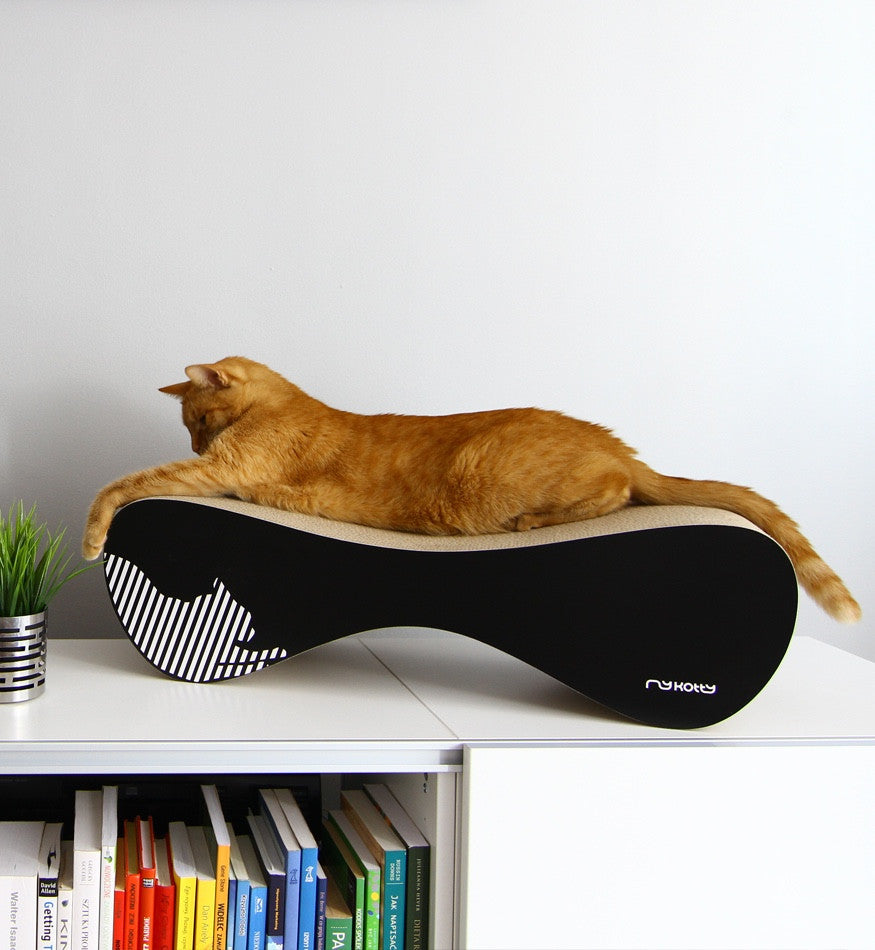 [product _vendor] VIGO Cardboard Cat Scratcher Lounge - Black - STYLETAILS