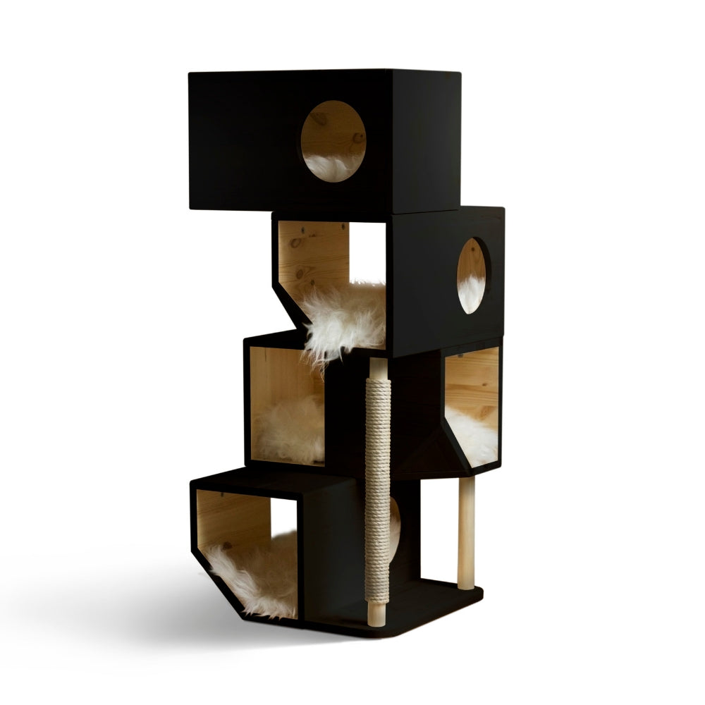 [product _vendor] Freestanding Modular Cat Tower - Black - STYLETAILS
