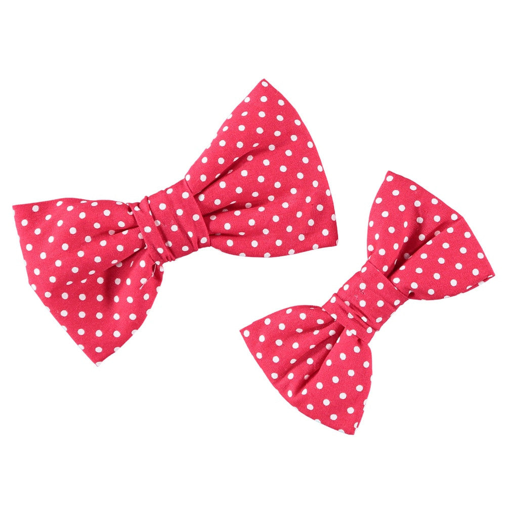 Polka Dog Bow Tie Baker Bray Red