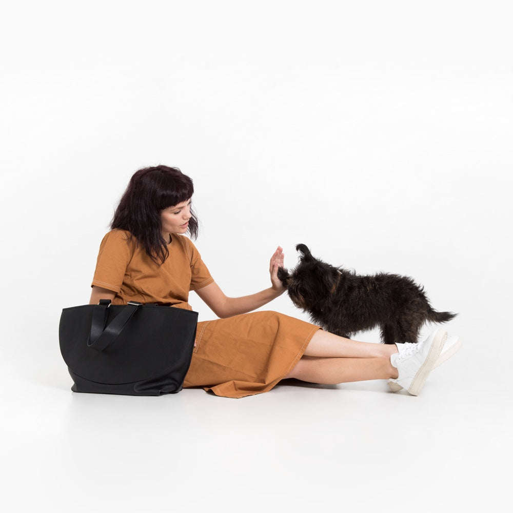[product _vendor] London Carry - Leather Dog Walking Bag - STYLETAILS