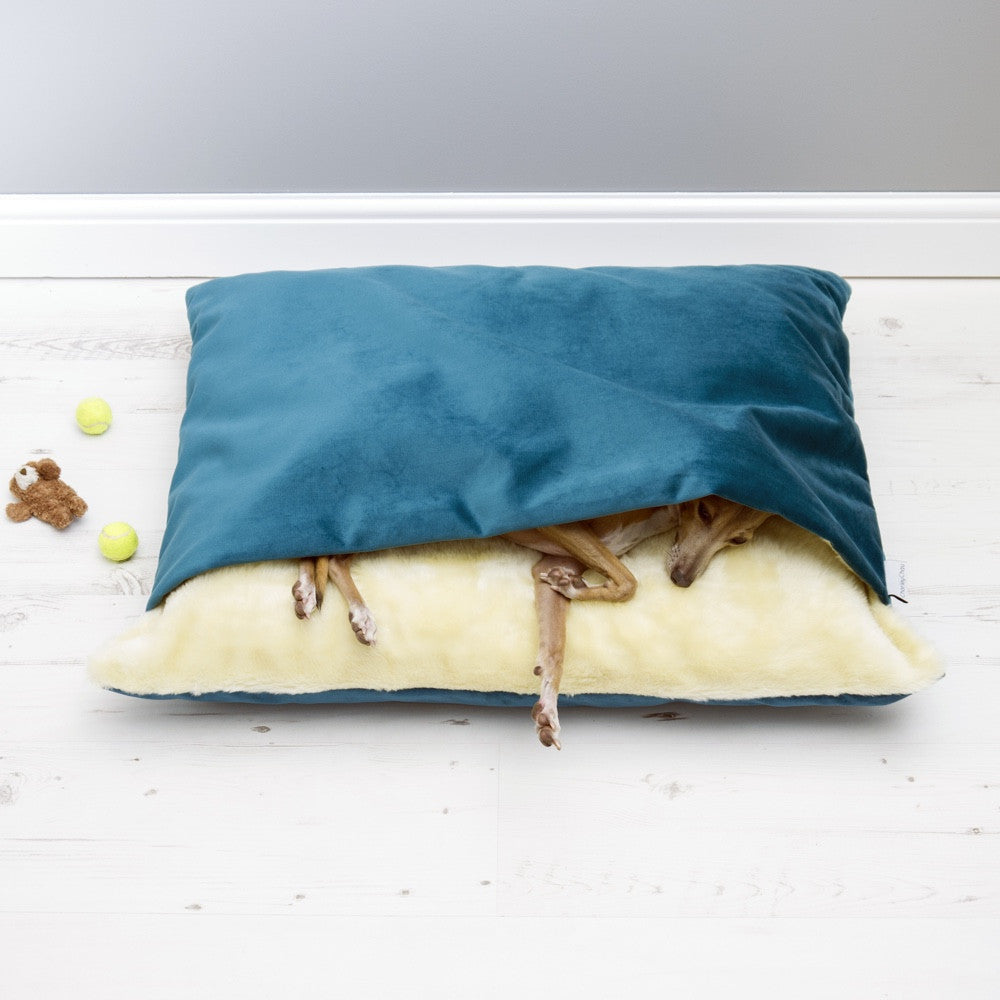 [product _vendor] Luxury Dog Snuggle Bed - Velour - STYLETAILS
