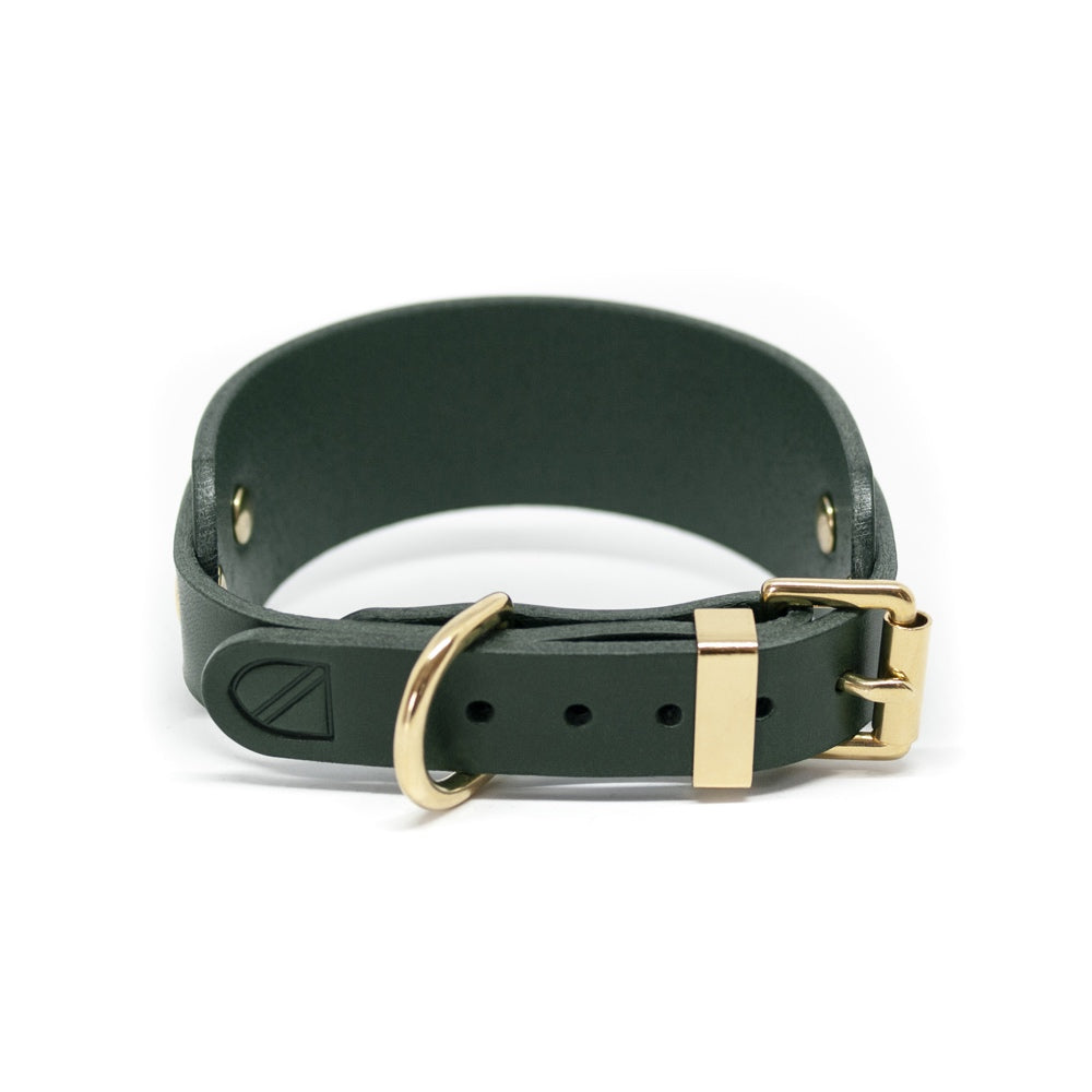[product _vendor] Leather Greyhound and Whippet Collar - STYLETAILS