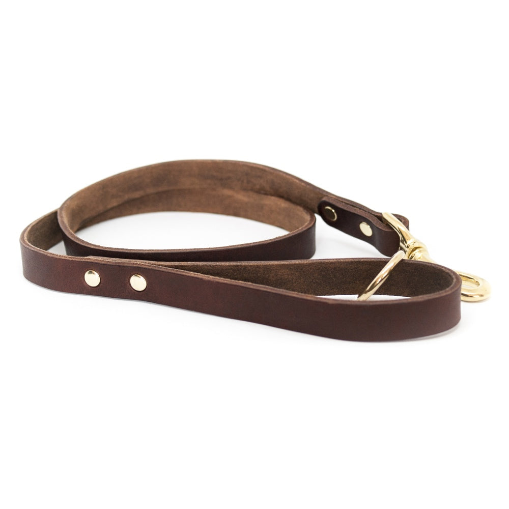 [product _vendor] Classic Leather Dog Lead - STYLETAILS
