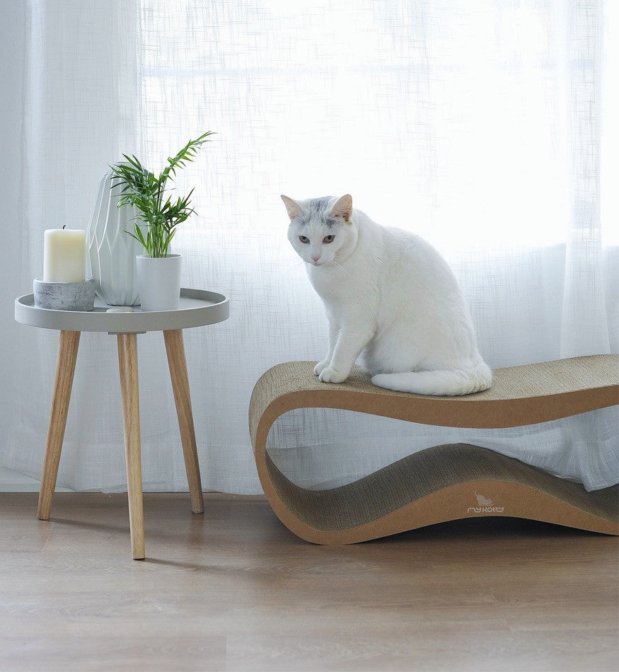 [product _vendor] LUI Cardboard Cat Scratcher Lounge - Natural - STYLETAILS